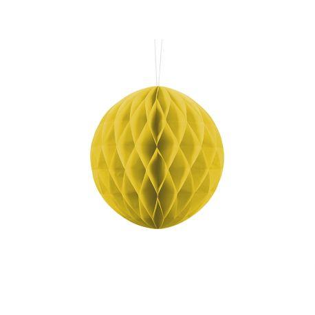 Honeycomb Ball žltá - 10cm,20cm a 30cm - Obrázok č. 1