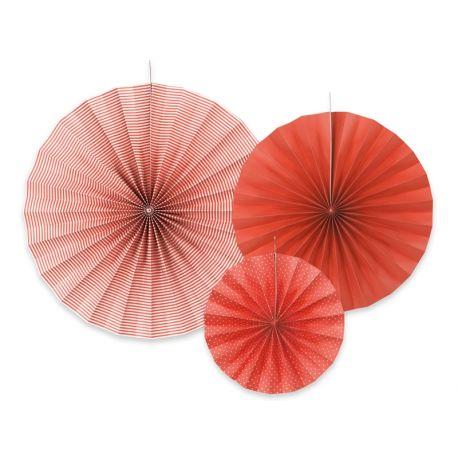 Dekoračné rozety červené - Obrázok č. 1