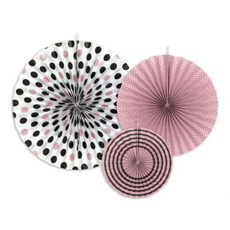Dekoračné rozety ružové a čierne - Obrázok č. 1