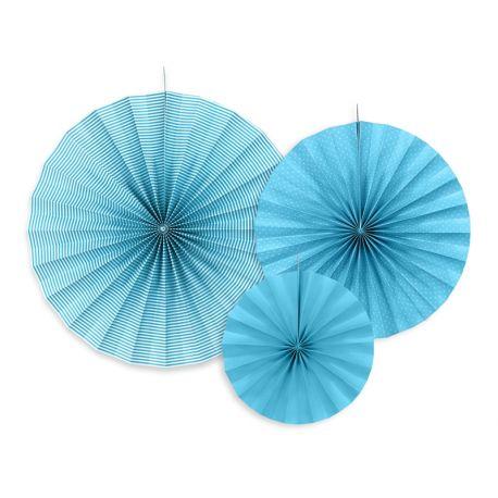 Dekoračné rozety svetlo modré - Obrázok č. 1