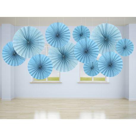 Dekoračné rozety svetlo modré - Obrázok č. 2