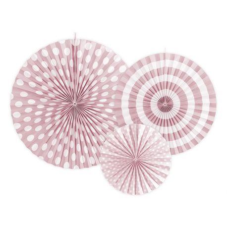 Dekoračné rozety svetlo ružové - Obrázok č. 1