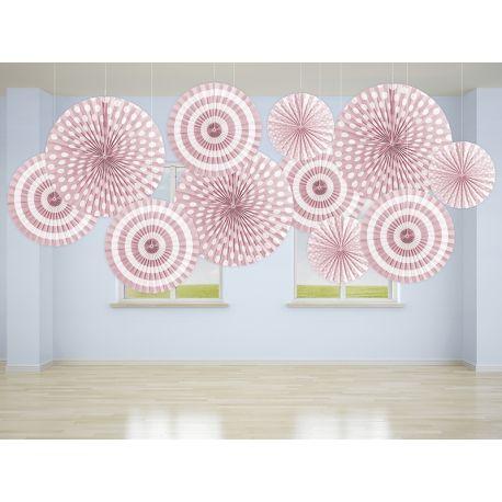Dekoračné rozety svetlo ružové - Obrázok č. 2