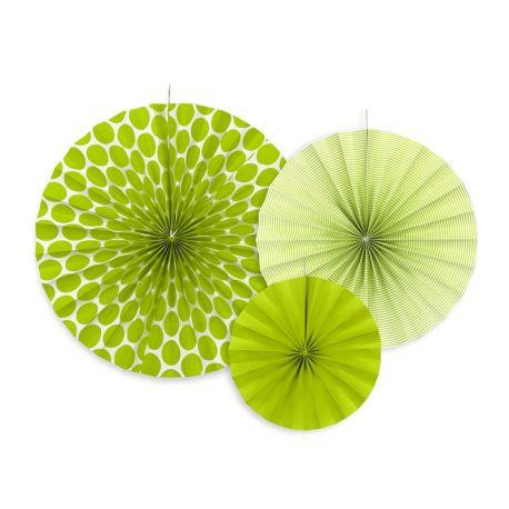 Dekoračné rozety svetlo zelené - Obrázok č. 1