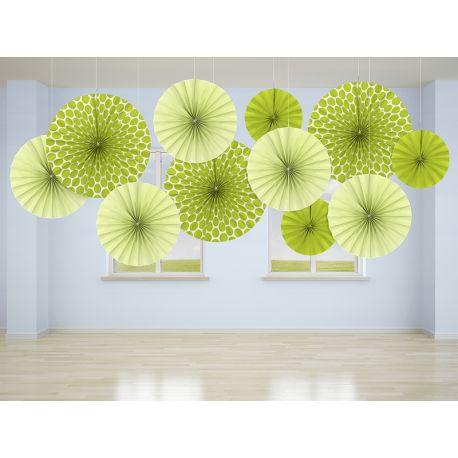 Dekoračné rozety svetlo zelené - Obrázok č. 2