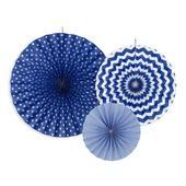 Dekoračné rozety tmavo modré,