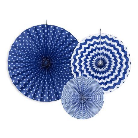 Dekoračné rozety tmavo modré - Obrázok č. 1