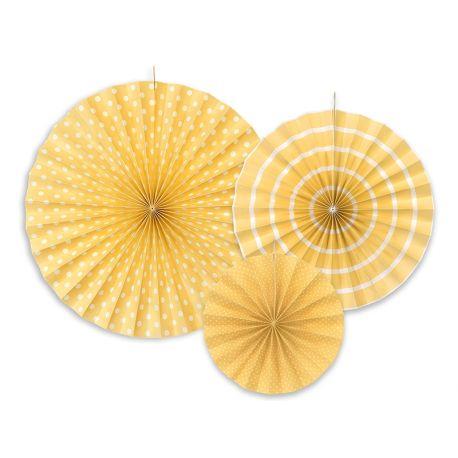 Dekoračné rozety žlté - Obrázok č. 1
