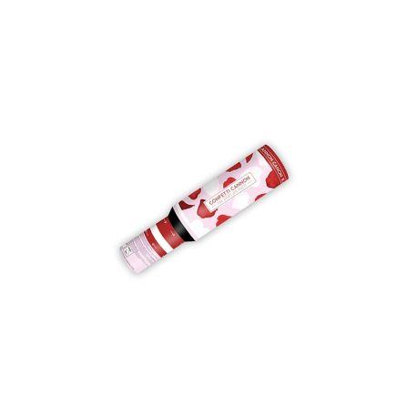 Vystreľovacie konfety (granát) - červené lupene  - Obrázok č. 2