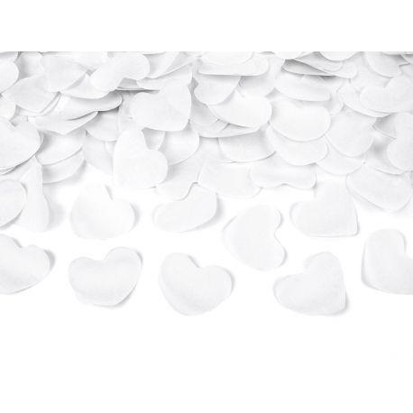 Vystreľovacie konfety - biele srdcia 40cm - Obrázok č. 1