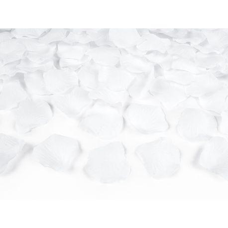 Vystreľovacie konfety - lupene biele 40cm - Obrázok č. 1