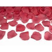 Vystreľovacie konfety - lupene bordová farba 60cm,