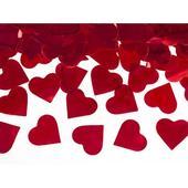 Vystreľovacie konfety - srdcia červené 40cm,