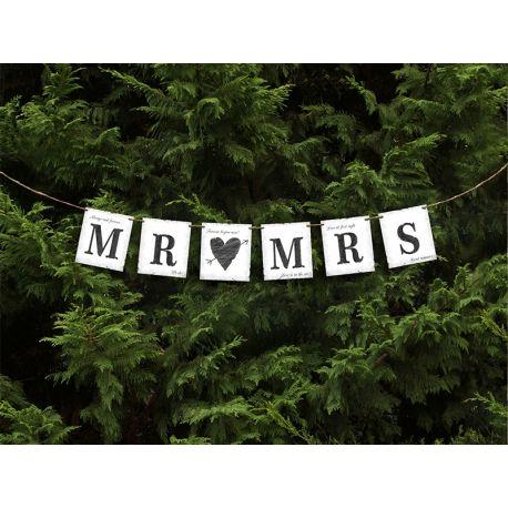 Banner Mr (srdce) Mrs - Obrázok č. 1