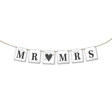 Banner Mr (srdce) Mrs - Obrázok č. 2