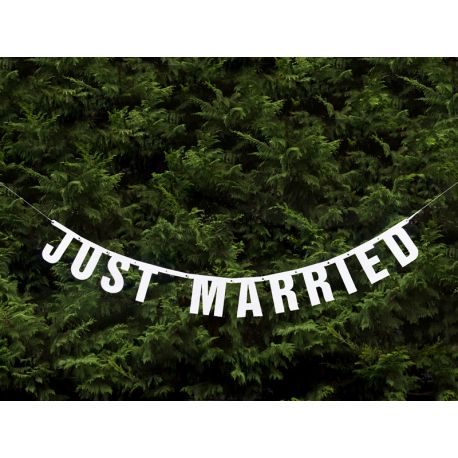 Banner JUST MARRIED - Obrázok č. 1