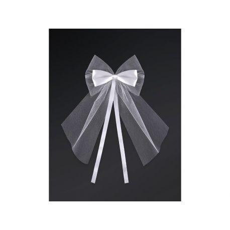 Dekoračná mašľa biela - Obrázok č. 1