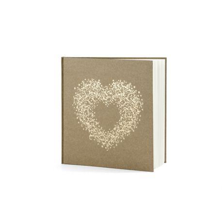 Svadobná kniha hostí so zlatým srdcom - Obrázok č. 1