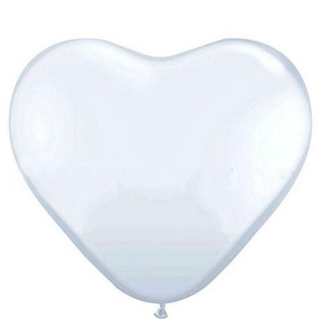 Balón - biele srdce  - Obrázok č. 1