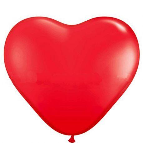 Balón - červené srdce  - Obrázok č. 1