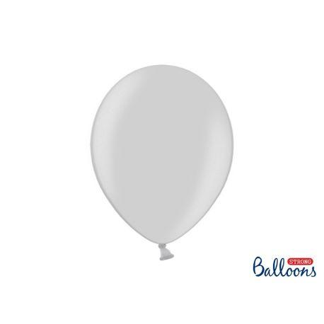 Balón metalický - stieborný - Obrázok č. 1