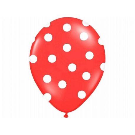 Balón Pastel červený - biele bodky - Obrázok č. 1