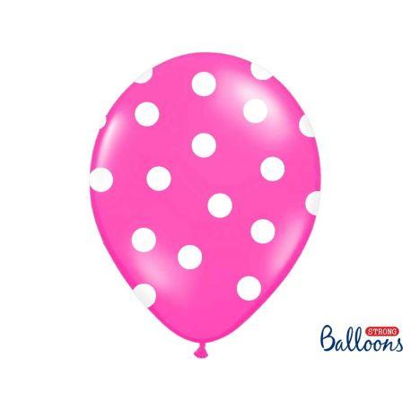 Balón Pastel cyklamenový - biele bodky - Obrázok č. 1