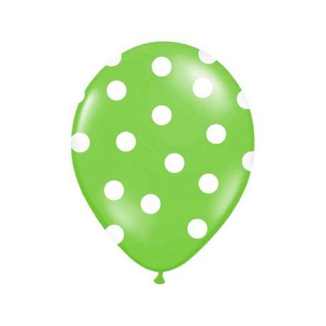 Balón Pastel zelený - biele bodky - Obrázok č. 1
