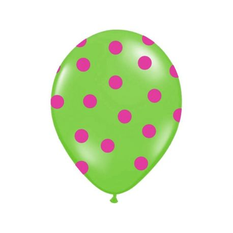 Balón Pastel zelený - ružové bodky - Obrázok č. 1