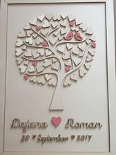 Svadobný strom - kniha hostí.