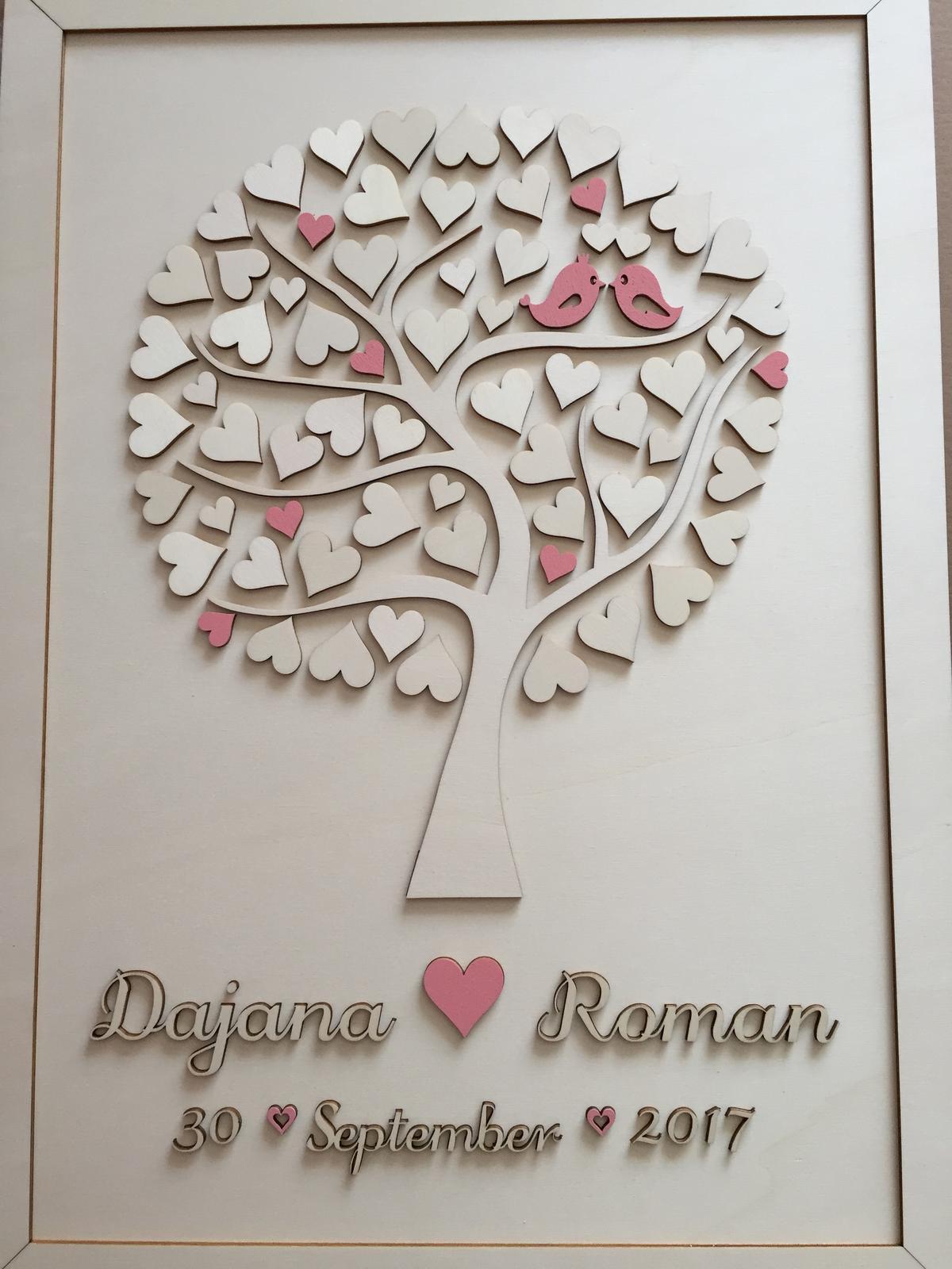 Svadobné prípravy D&R - Svadobný strom - kniha hostí.