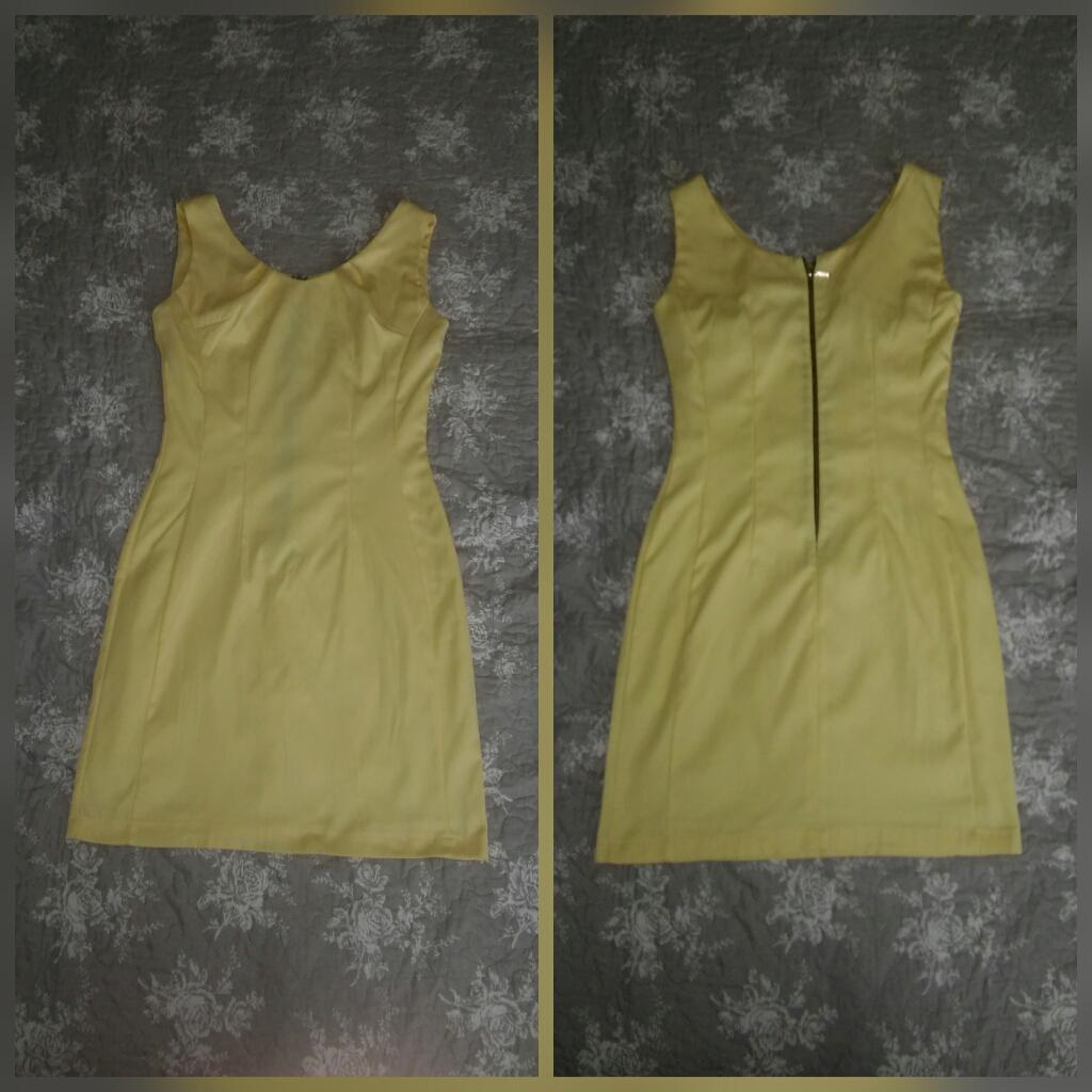 Žlté spoločenské šaty - krátke - Obrázok č. 1