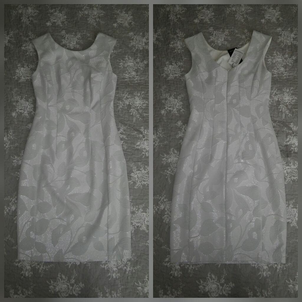 Svetlošedé vzorované spoločenské šaty - krátke - Obrázok č. 1