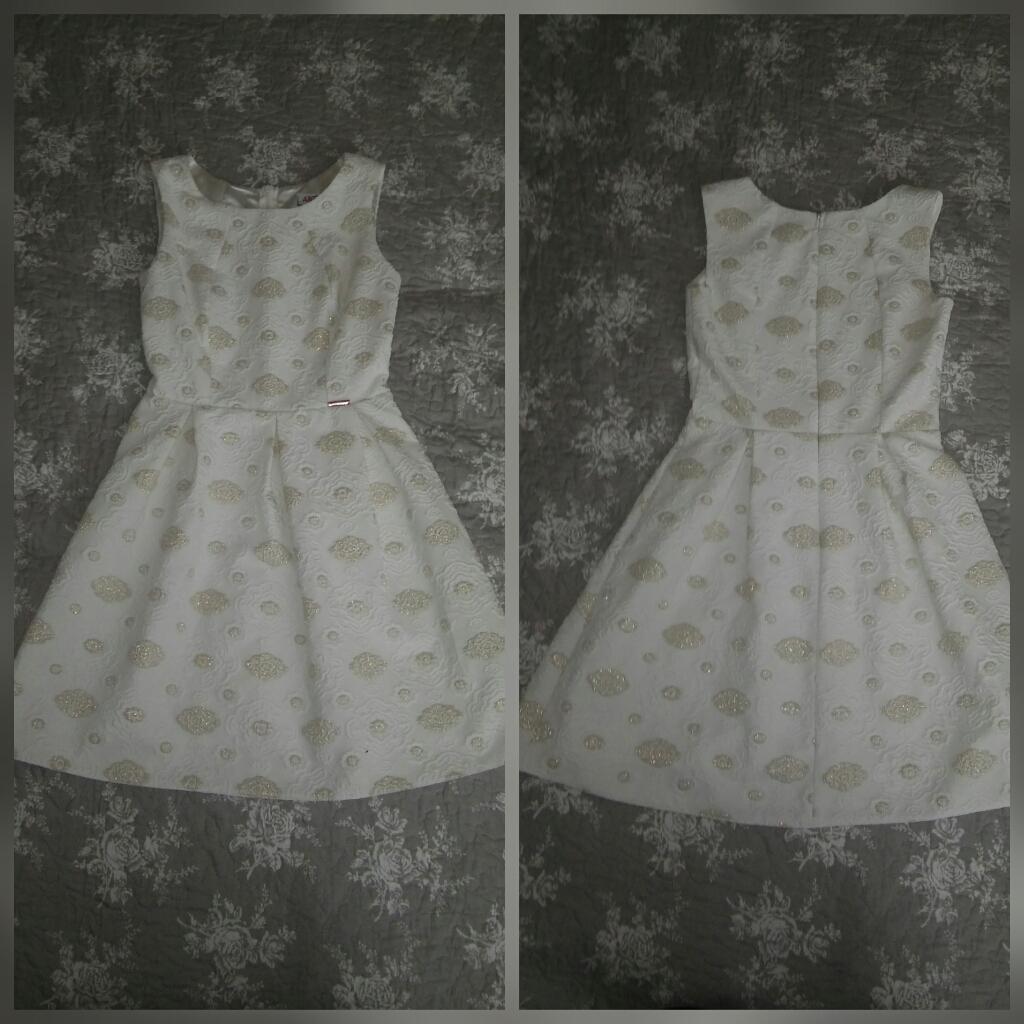 Biele vzorované spoločenské šaty - krátke - Obrázok č. 1