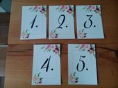 Tiskoviny na stoly - čísla stolů, harmonogram,