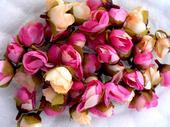 Umělé růžičky 43ks (růžové a naoranžovělé),