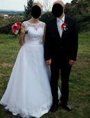 Krajkové svatení šaty, 40