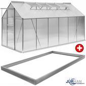 Záhradný skleník s hliníkovou konštrukciou,