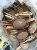 Dřevěné kolíčky,