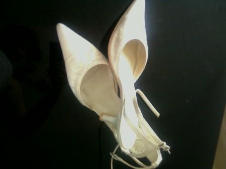 Príjemné svadobné starosti :-) - topánočky na prezutie