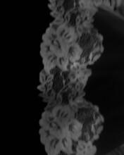 Príjemné svadobné starosti :-) - detail krajky závoja