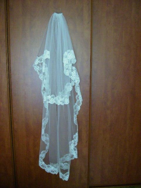 Príjemné svadobné starosti :-) - tu je lepšie foto môjho závoja