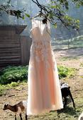 Jedinečné svatební šaty vel 38 - 42, 40