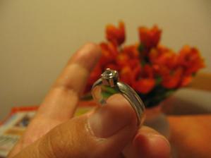 toto je môj zásnubný prstienok