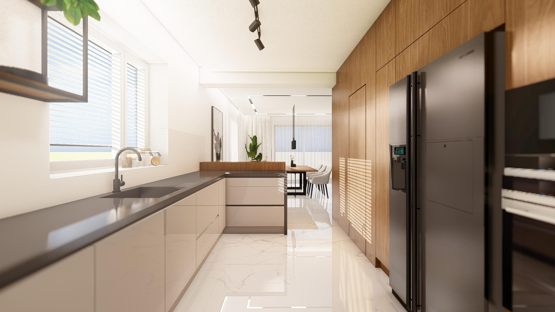 Návrh dennej časti v rodinnom dome, s nádychom luxusu.  Nechajte si aj vy navrhnúť svoj vysnívaný interiér. :) ;-)  Teraz už od 7€/m2. - Obrázok č. 2