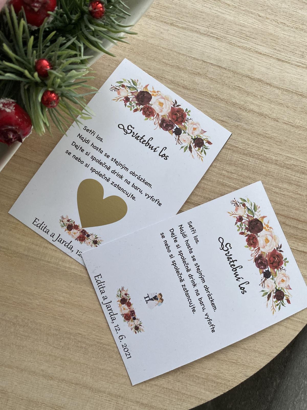 Stírací losy na svatbu - Obrázek č. 1
