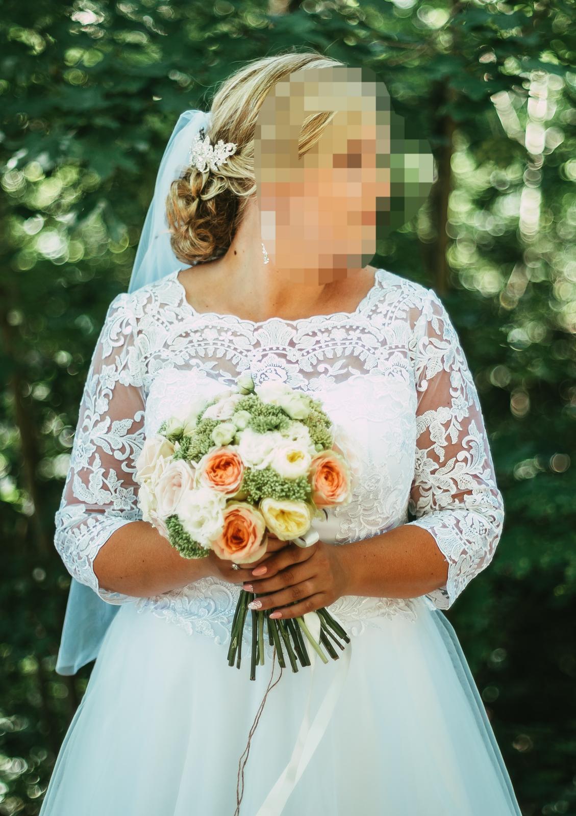 Svadobné šaty pre moletky 46-48 - Obrázok č. 4