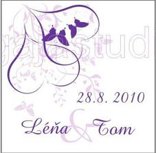 obal na svatební čokoládky (akorát se Léňa bude s krátkým e.. :-)))