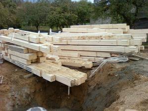 dřevíčko na pozemku