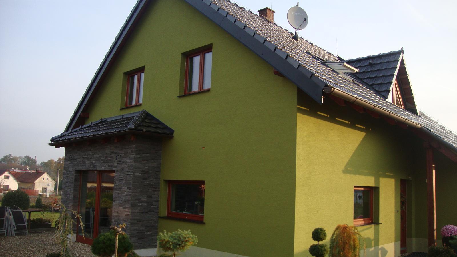 Náš domeček - Fasada dokončena:-)